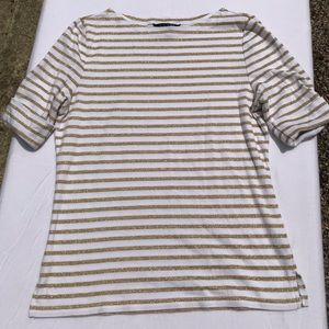 Lauren Ralph Lauren Gold Striped TShirt